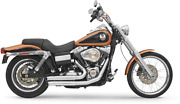 Bassani 2-2 Chrome Firepower Exhaust For 06-17 Harley Dyna Fxdwg Fxdl Fxdb Fxd