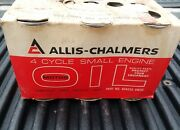6 Pack Vintage Nos Allis Chalmers 4 Cycle Oil 12 Ounce Metal Can Full Unopened