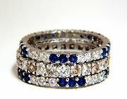 3.20ct Stackable Natural Blue Sapphires And Fancy Color Diamonds Rings Stacking+