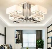 Modern Chrome Led Chandeliers Lighting Novelty Home Hanging Ceiling Fixtures New
