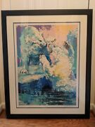 Leroy Neiman Large Authentic Color Hand Signed Serigraph Andldquopolar Bearsandrdquo 137/300