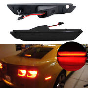 Smoked Lens Led Rear Side Marker Lamps W/ 27-smd Red Led Lights For 10-15 Camaro