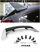 Rs Style Rear Roof Spoiler W/ Wing Riser Extension Kit For 13-up Focus Hatchback