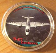 U.s. United States Air Force Usaf | B-57 Canberra | Gold Plated Challenge Coin