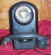 Unique Rare Old Wall Mount Phone Telephone Sl5002do Vintage Rotary Collectible