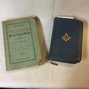 1940and039s Mason Books 1946 Report Of Nj Lodges And Holy Bible Masonic Edition