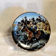 Collectible Western Plate By Frank Mccarthy - On The Old North Trail