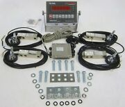 Stainless Steel Load Cell Scale Kit 40000 Lbs Floor Hopper Tank Feeder Silo New
