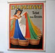 Large Original French Advertising Poster Land039 Alsacienne Made By Gossens Signed