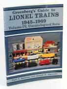 Greenbergand039s Guide To Lionel Trains 1945-69 Volume Iv Uncatalogued Sets P Ambrose