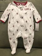 Carters My First Christmas Sleep And Play 3 Months And Reindeer Bib