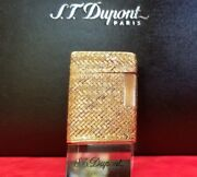 Rare S.t. Dupont Silver And Gold Ligne 1 Lighter