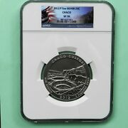 2012-p Chaco Culture Atb 5 Oz Silver Coin Ngc Sp70 Flag Label
