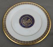 2 Seal Of The Governor Of West Virginia Lenox Tudor China Dinner Plate Exc