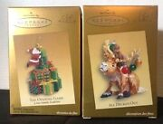 Hallmark Keepsake 2005 And039club Exclusiveand039 2 Ornaments New Sold Individually