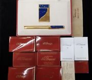 Rare Limited Edition S.t. Dupont Europa Lighter And Pen Set 918/4000