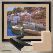 40wx32h Cala Figuera By Alex Hook Krioutchkov - Double Matte Glass And Frame