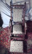 Antique Rocking Chair With Footstool As Been Sold