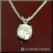 4.00 Ct Moissanite Solitaire Forever One Ghi Basket Pendant Great Gift
