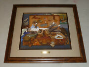 Framed Charles Wysocki Mabel The Stowaway Signed Print Cat Museum Glass Numbered