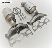 Fits 2005-2010 Kia Sportage 2.7l Fwd Manifold Catalytic Converter Bank 1 And2