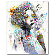 Trippy Psychedelic Abstract Girl Art Silk Poster Prints 13x16 24x30 Inches J432