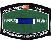 4.5 Army Vietnam Purple Heart Veteran Mos Embroidered Patch