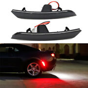 Smoked Bright Red Led Rear Side Marker Lights For 2016-up 6th Gen Chevy Camaro