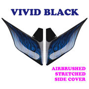 Vivid Black Airbrush Stretched Extended Side Cover For 14+ Harley Street Electra