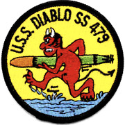 3 Navy Uss Ss-479 Diablo Embroidered Patch