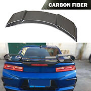 Carbon Fiber Rear Trunk Boot Spoiler Wing Fit For Chevrolet Camaro Coupe 16-18