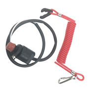 Outboard Boat Engine Emergency Kill Stop Switch With Safety Tether For Honda