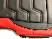 2017-2020 Ford F-250 Xlt Supercrew Alea Black Red Leather Seat Covers Custom