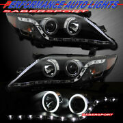 Set Of Pair Black Halo Headlights W/ Led Parking For 2010-2011 Toyota Camry