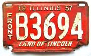 Illinois 1957 Truck Vintage Old License Plate Garage Front Tag Shorty Rustic Bar