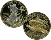 1933 Gold Double Eagle Platinum-accented Coin Proof Lucky Money Value 99.95