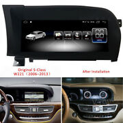 Android 10 Car Gps Radio Stereo Navi For Mercedes Benz S Class W221 S300 S350