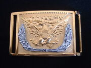 Civil War Sword Belt Buckle Union Federal All Ranks - Usa - Gold Plated
