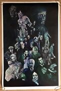 Cacophony Age Original Vintage Blacklight Poster Psychedelic 1960andrsquos Wespac Pinup