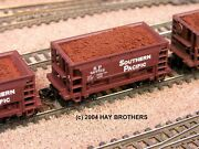 Hay Brothers Iron Ore Loads 4-pack - Fits N Scale Atlas Ore Cars