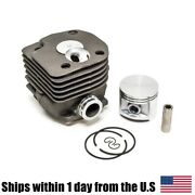 50mm Cylinder Piston Ring Round Inlet Kit For Husqvarna 362 365 371 372 Chainsaw