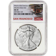 2012-s American Silver Eagle - Ngc Ms70 Trolley Label
