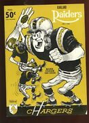 November 1 1964 Afl Program Oakland Raiders At San Diego Chargers Exmt