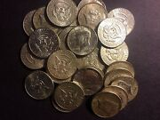 Thirty Eight Kennedy Coins All 90 Lot Old Us Junk Silver Coin 1964 One