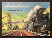 1952 Gilbert Toys American Flyer Trains And Accessories 48pg Catalog Vg+ 4.5