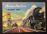 1952 Gilbert Toys American Flyer Trains And Accessories 48pg Catalog Fn 6.0