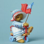Cherished Teddies Lyndi Patriotic Bear Riding Tricycle Youand039re My Yankee Doodle