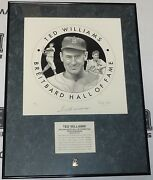 Ted Williams Signed San Diego Breitbard Hall Of Fame Lithograph Psa/dna Red Sox
