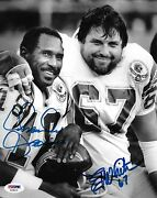 Charlie Joiner And Ed White Signed Air Coryell Chargers 8x10 Photo Psa/dna Coa Hof