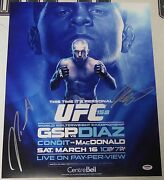 Georges St-pierre And Nick Diaz Signed Ufc 158 16x20 Photo Psa/dna Coa Poster Auto